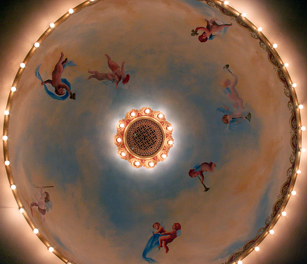 Ceiling dome at The Matthews Opera House