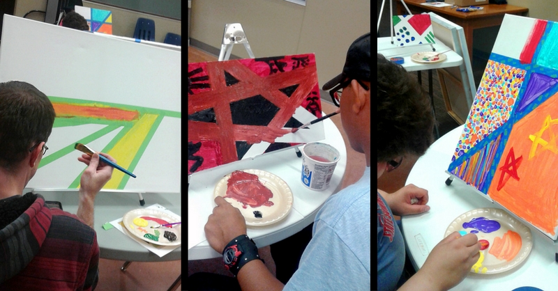 Art residency day at NH Training Center