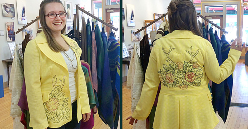 Elzabeth Mattson re-created this beautiful blazer.