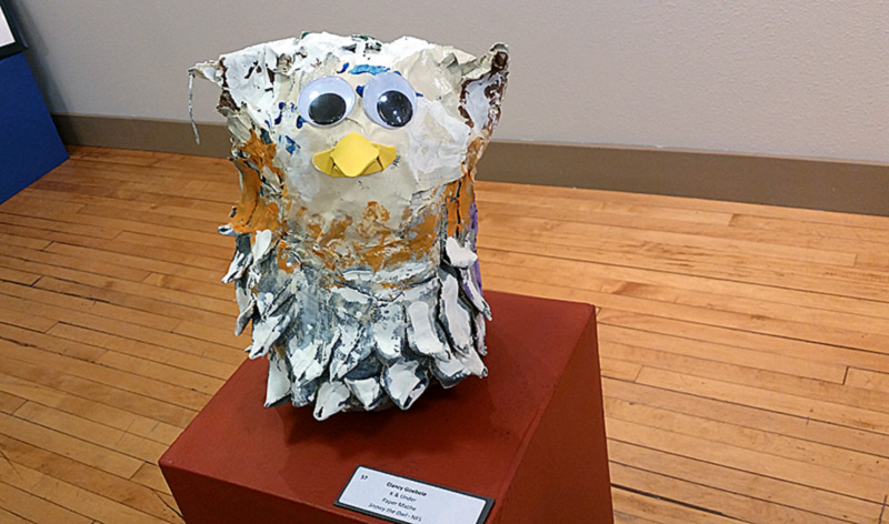 "First Place - K & Under: Clancy Goebele, ""Snowy the Owl"""