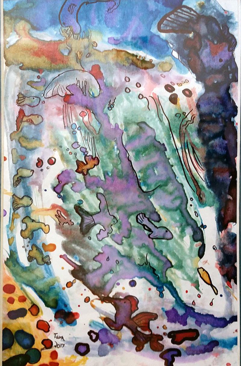 "First place - Grade School: Tava Sexton, ""Fish of the Sea"""